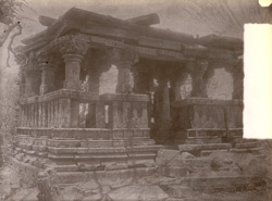 Ruins of a flat-roofed temple at Chandpur, Jhansi District